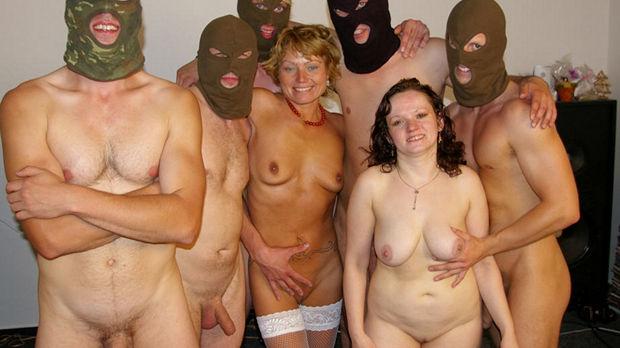 Kinky mature gangbang
